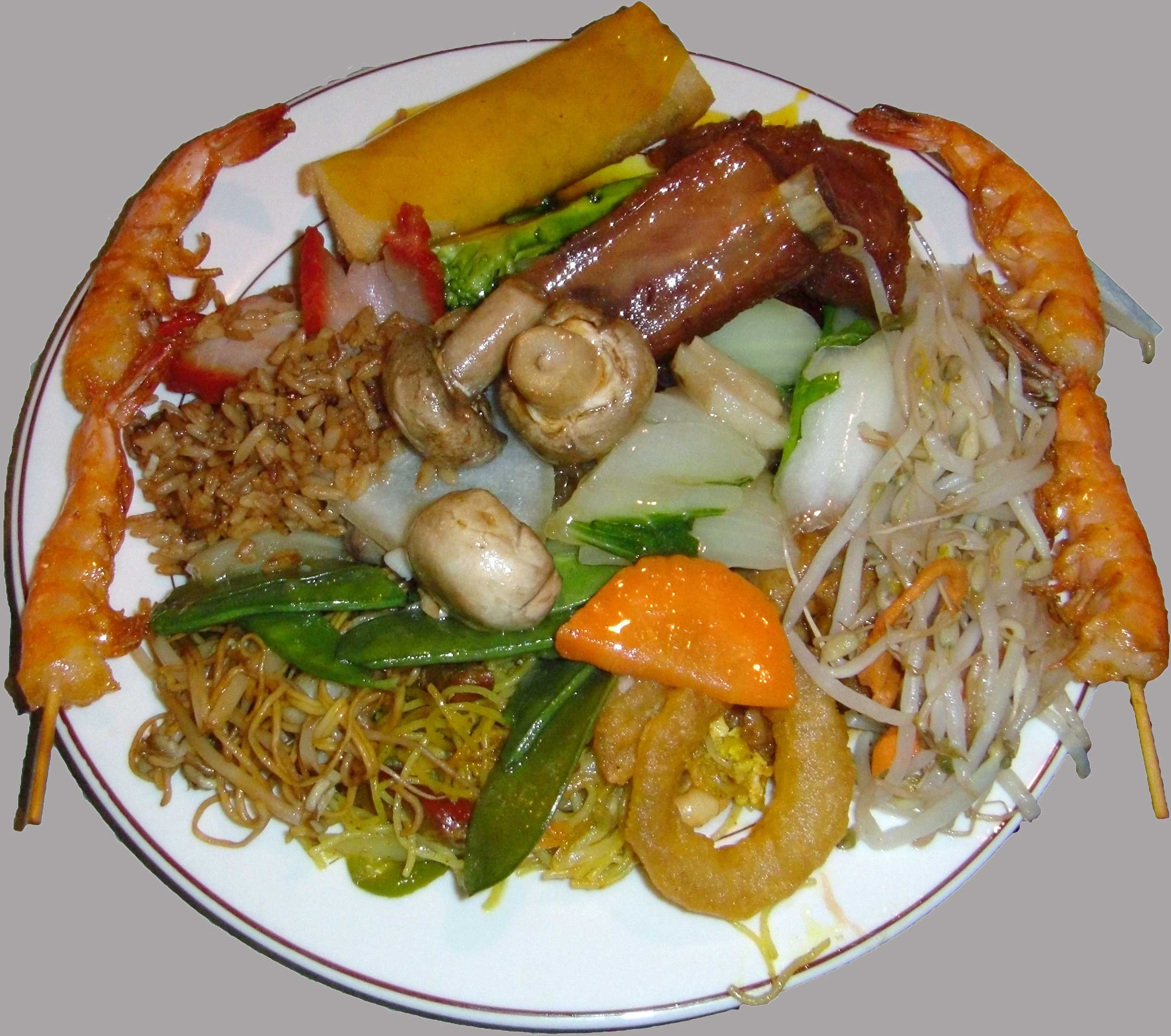Just down the road from the pearl is a ruby king for Asian cuisine buffet