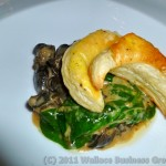 Snails, Goat cheese & wilted Spinach